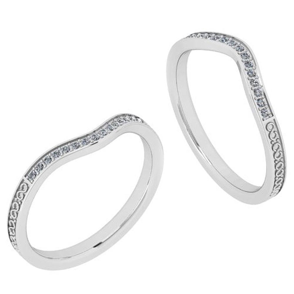 Certified 0.08 Ctw Diamond SI2 /I1 10K Yellow Gold Band