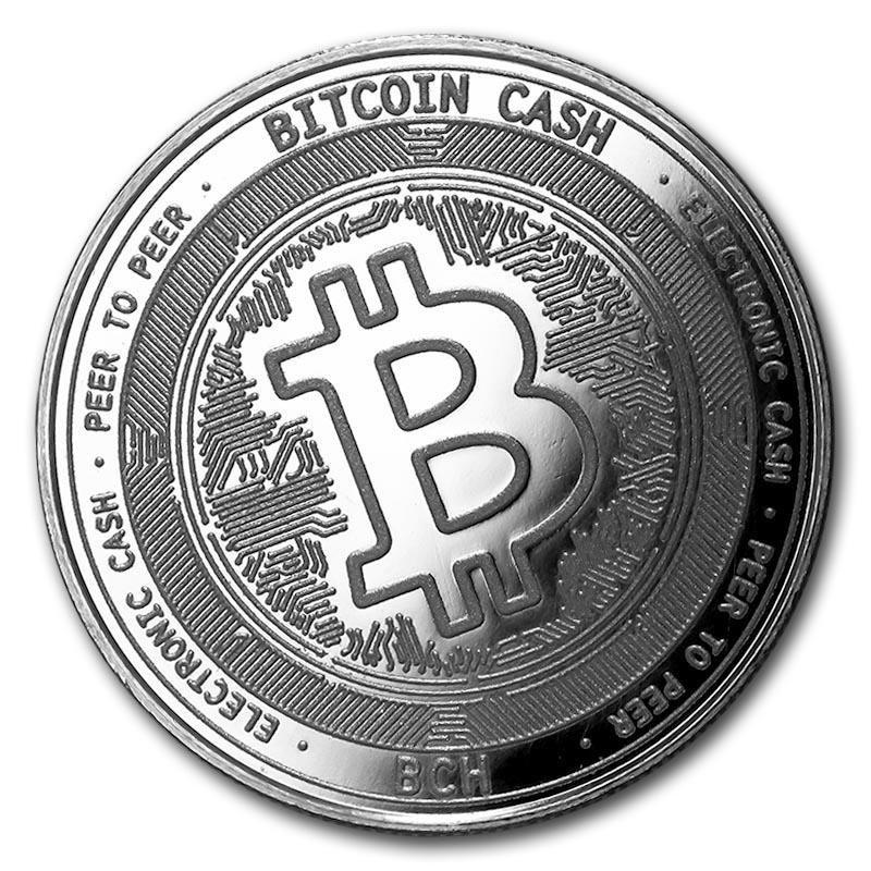 1 oz Silver Bullion Cryptocurrency Bitcoin Cash Round .