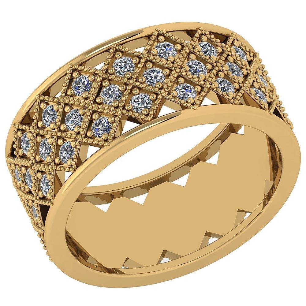 Certified 0.93 Ctw Diamond I1/I2 10K Yellow Gold Weddin