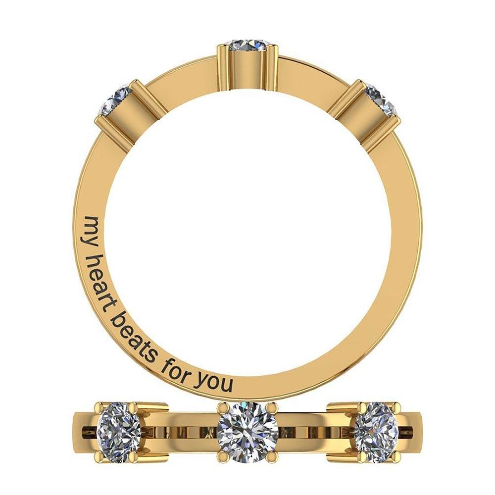 Certified 0.75 Ctw Diamond I1/I2 Style (3stone) Valenti