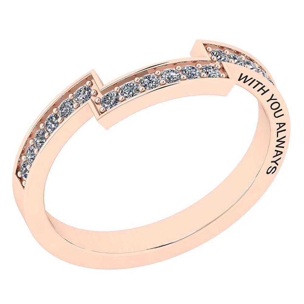Certified 0.21 Ctw Diamond I1/I2 Valentine Style Day En