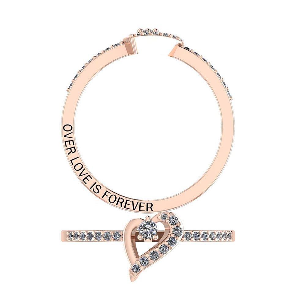 Certified 0.15 Ctw Diamond I1/I2 Valentine Style Specia