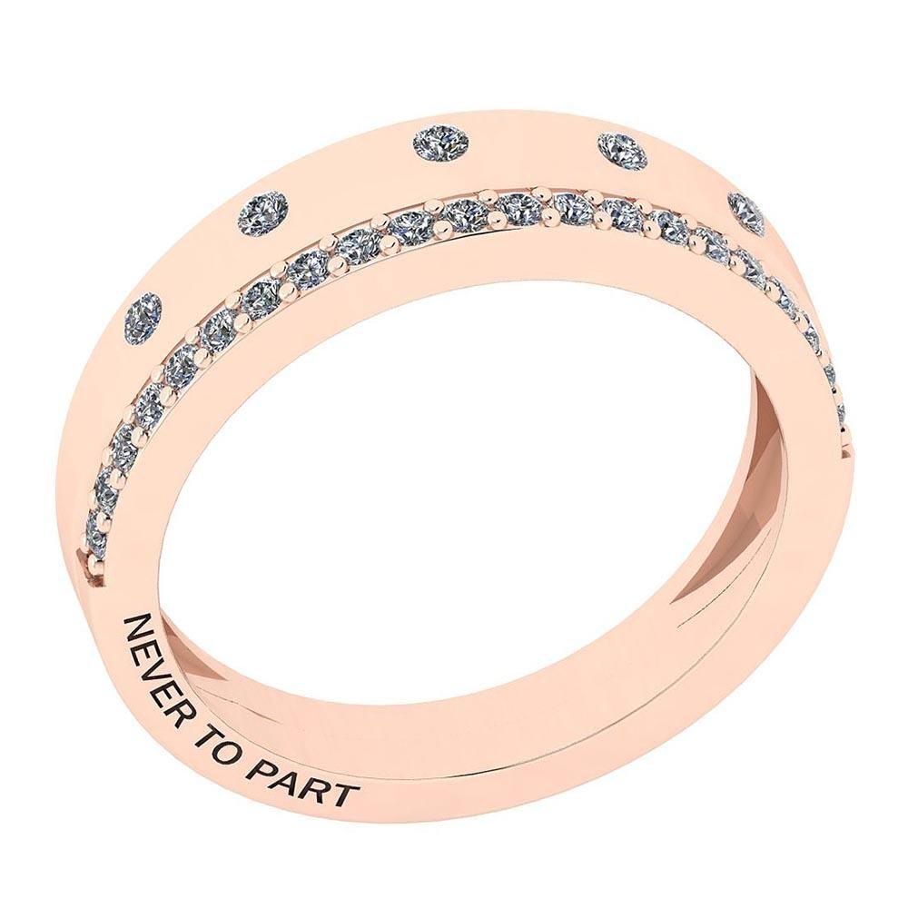 Certified 0.27 Ctw Diamond I1/I2 Valentine Style 14K Go