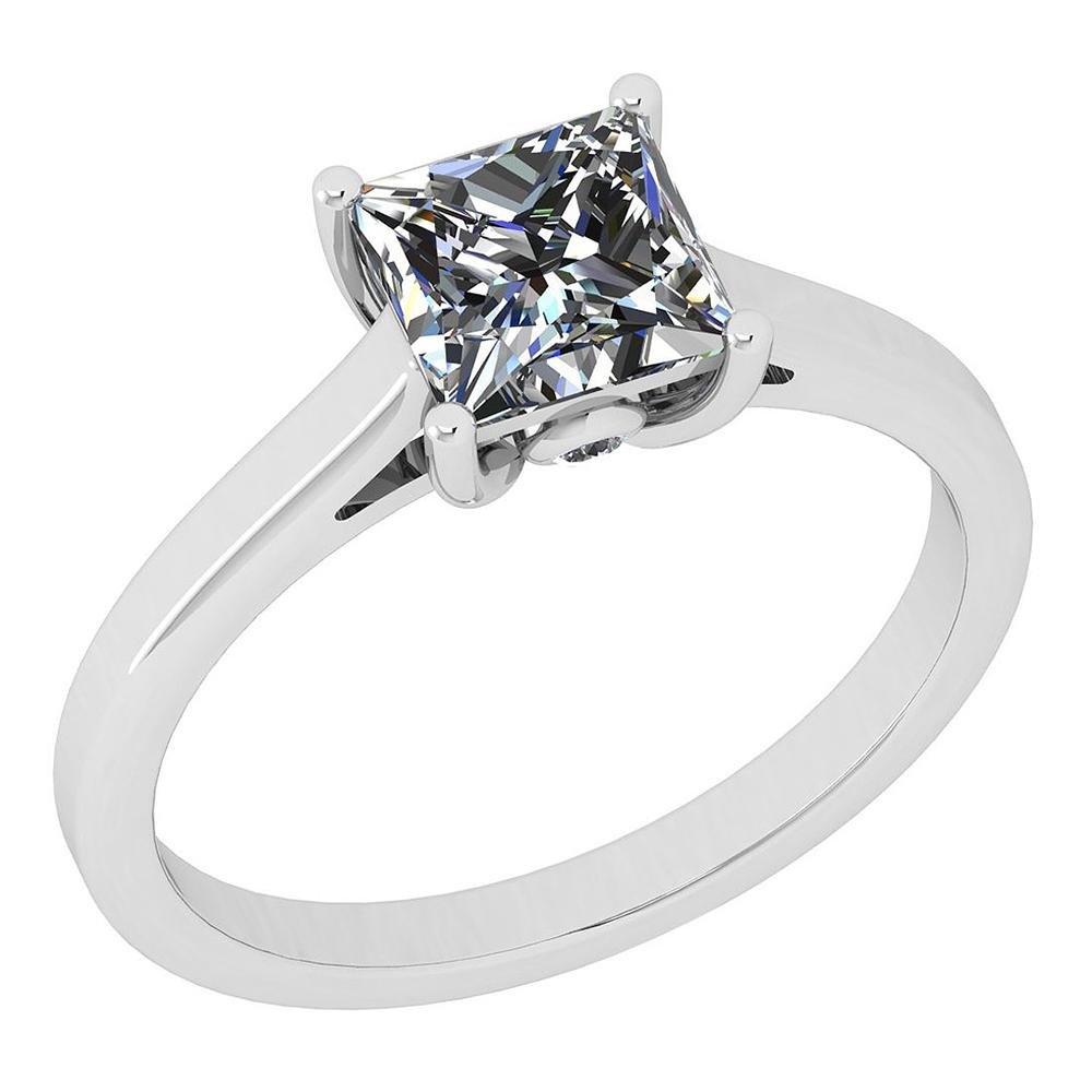 Certified 1.12 Ctw Diamond SI2 /I1 Style Princess Cut 1