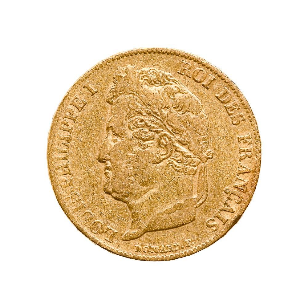 France 20 francs Louis Philippe I gold coin 1832-1848