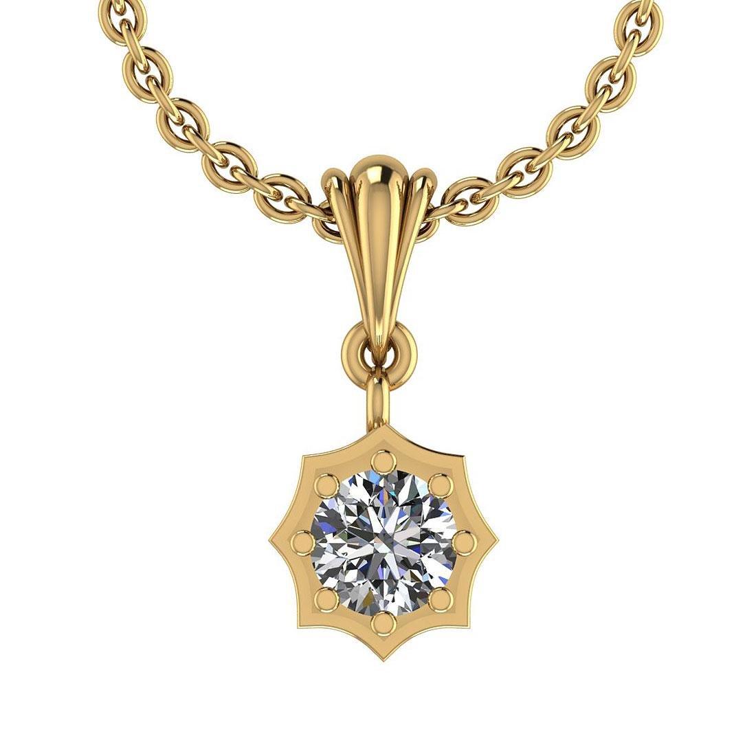 Certified 0.45 Ctw Diamond VS/SI1 Charm Pendant Necklac