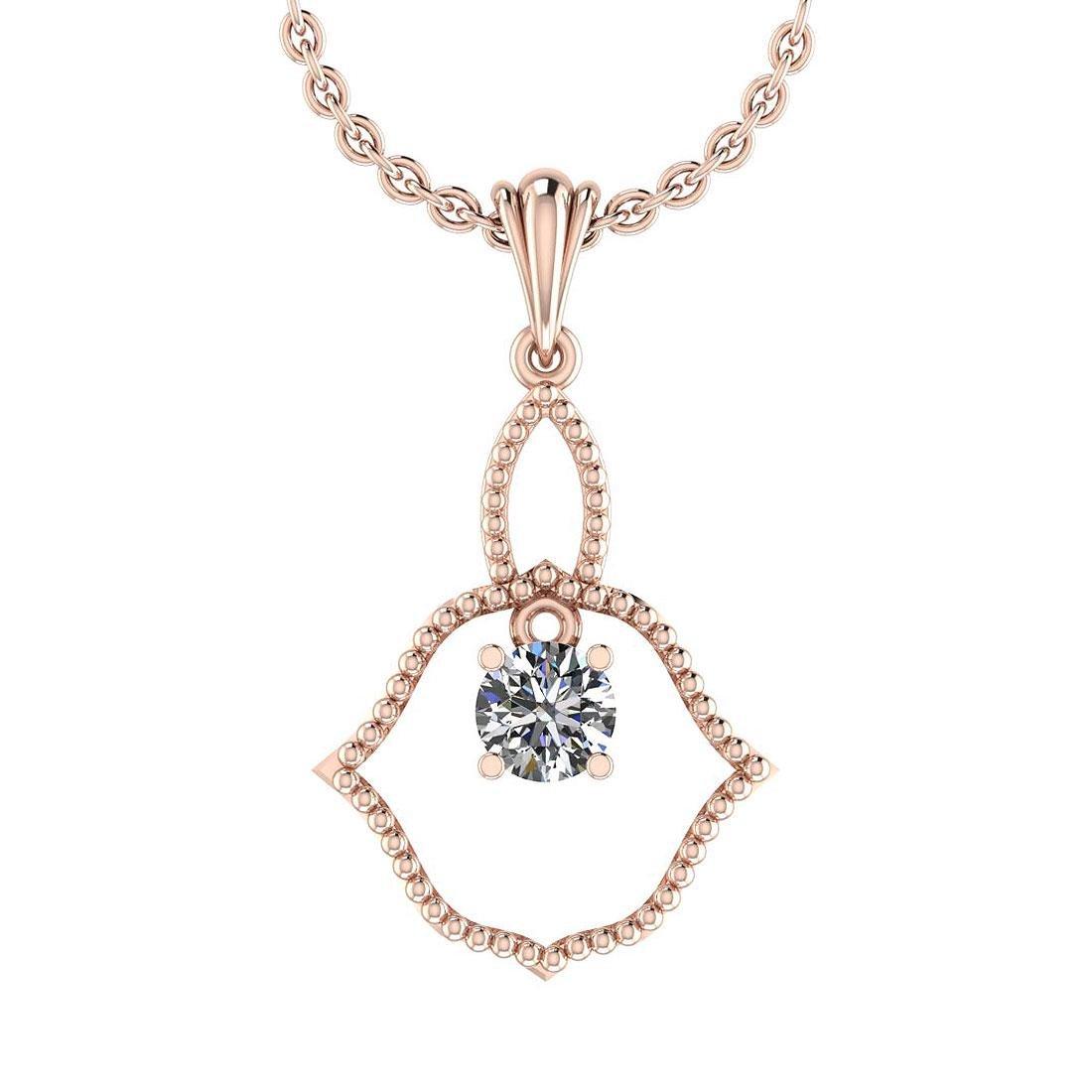 Certified 0.45 Ctw Diamond VS/SI1 Simple Pendant Neckla
