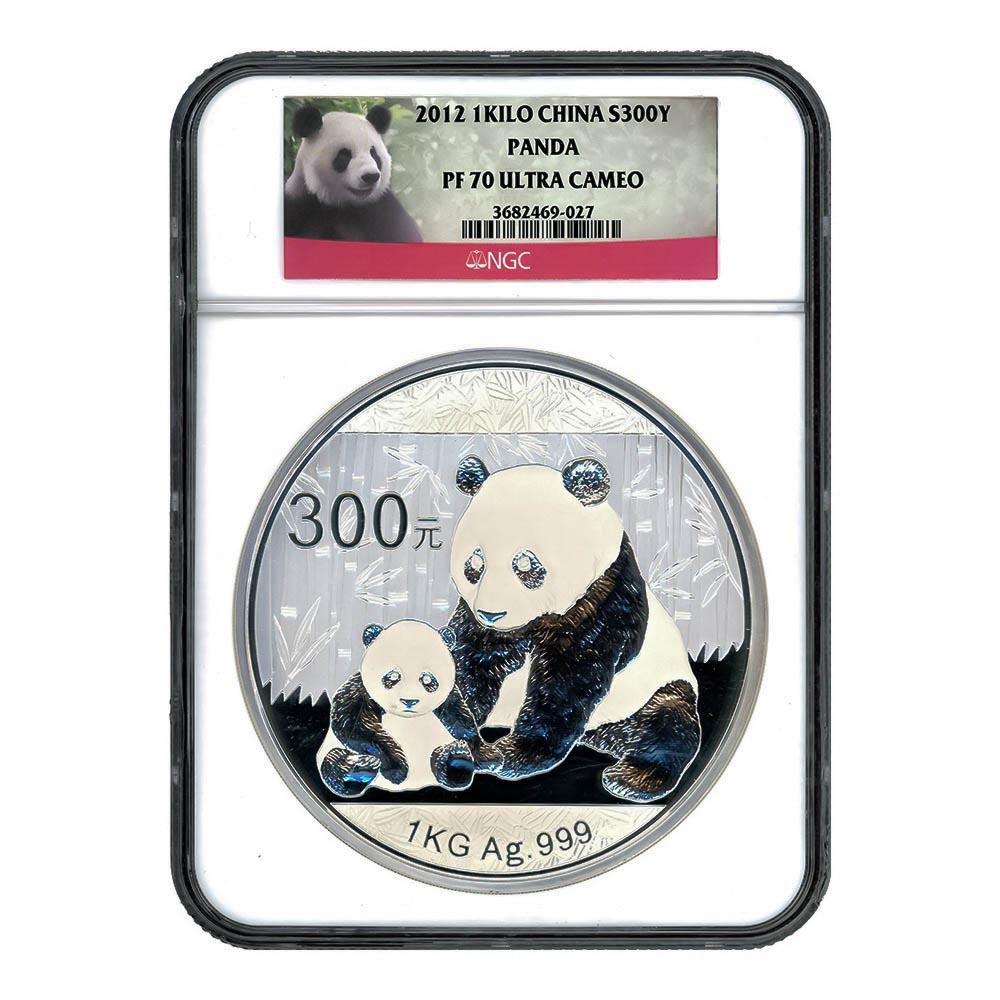 Certified Chinese Panda 300 Yuan Silver Kilo 2012 PF70