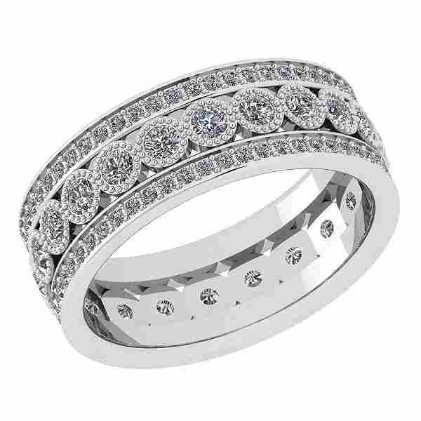 Certified 1.30 Ctw Diamond SI2 /I1 Victorian Style Enga
