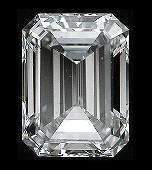 GIA CERTIFIED 0.5 CTW J/SI1 EMERALD DIAMOND