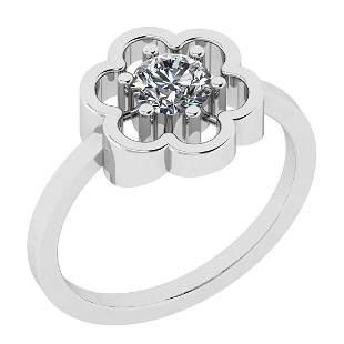 Certified 0.35 Ct Diamond I1/I2 10K White Gold Solitair