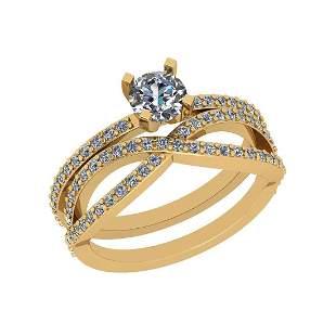 Certified 1.10 Ctw VS/SI1 Diamond 14K Yellow Gold Engag