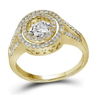 10kt Yellow Gold Round Diamond Moving Twinkle Bridal We