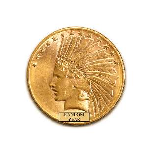Early Gold Bullion $10 Indian Uncirculated