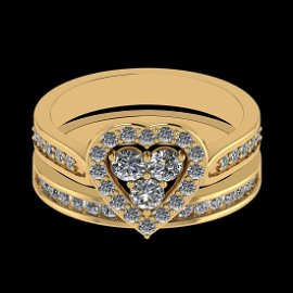 Certified 0.77 Ctw VS/SI1 Diamond 14K Yellow Gold Brida