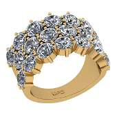 Certified 5.40 Ctw SI2/I1 Diamond 14K Yellow Gold Etern