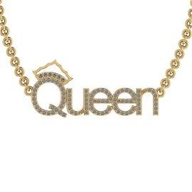 0.50 Ctw I2/I3 Diamond Prong Set 10K Yellow Gold Neckla