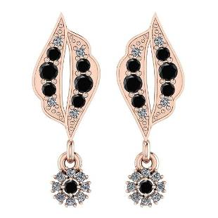 Certified 0.61 CTW Treated Fancy Black And White Diamon