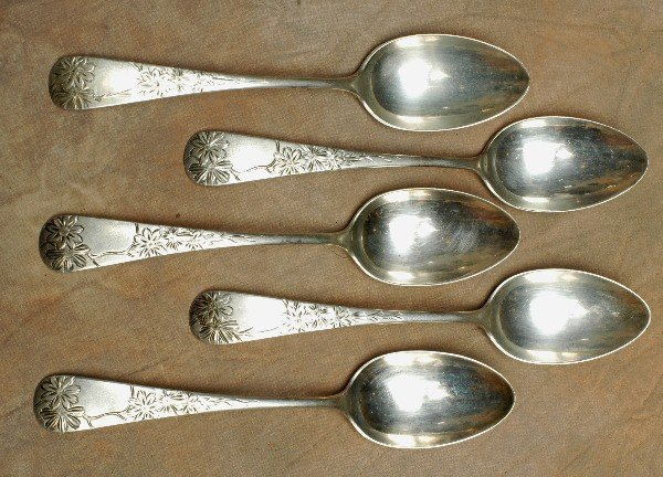8: 5 Gorham Sterling Silver Spoons