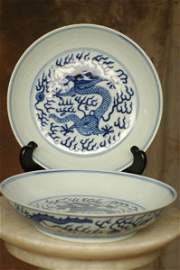 236: Pr. Oriental Dragon Dishes Early Chinese Japanese