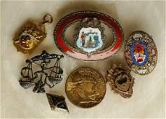 278: Maine Massachussetts Fraternal Sterling Pin Jewelr