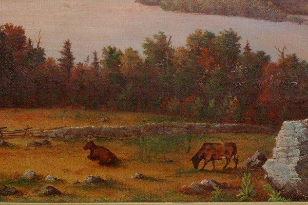 304 Seth Steward Moosehead Lake Oil Painting Maine Lot 304