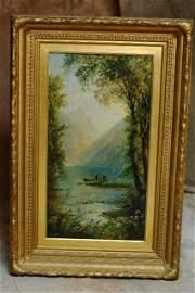 418: Impressionist Landscape Oil Painting CA