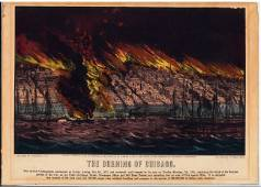 """Currier & Ives """"The Burning of Chicago"""""""