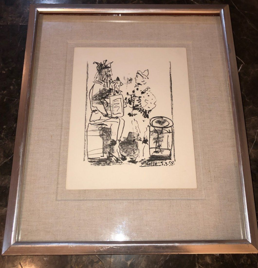 """Pablo Picasso. """"Spanish - Les Saltimbanques"""" Signed."""