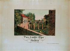 German Hand Colored Lithographs Nurnberg No7