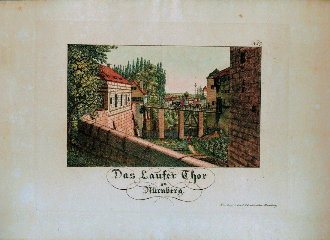 German Hand Colored Lithographs : Nurnberg #No7