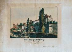 German Hand Colored Lithographs Nurnberg No1