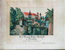 German Hand Colored Lithographs Nurnberg No2