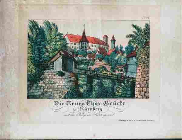 German Hand Colored Lithographs : Nurnberg #No2