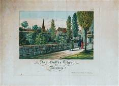 German Hand Colored Lithographs Nurnberg No3