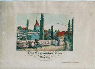 German Hand Colored Lithographs Nurnberg No8