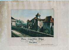 German Hand Colored Lithographs : Nurnberg #No4