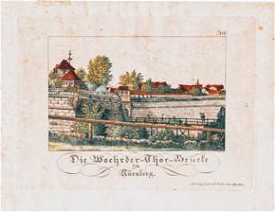 German Hand Colored Lithographs Nurnberg No6