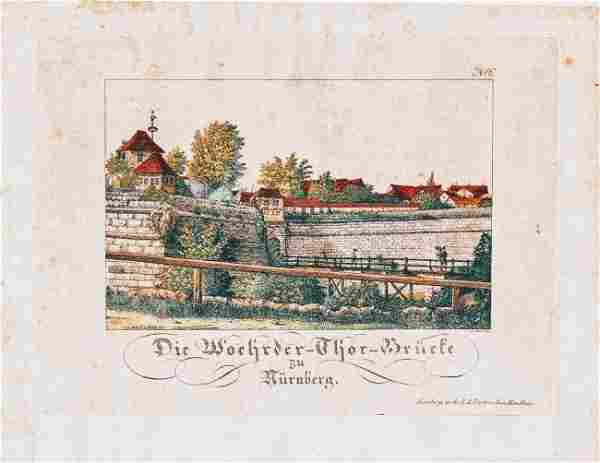 German Hand Colored Lithographs : Nurnberg #No6