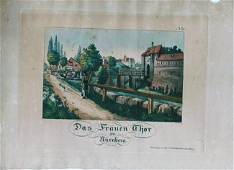 German Hand Colored Lithographs Nurnberg No5