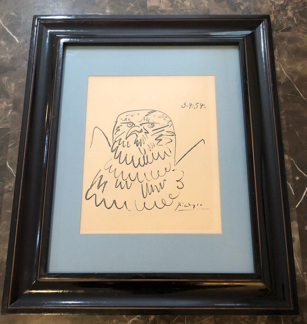 Pablo Picasso (Spanish, 1881-1973) Drawing of Eagle