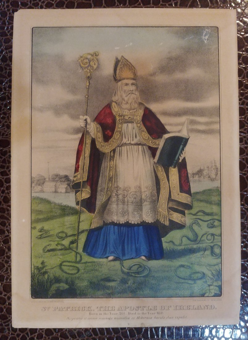 "Currier & Ives ""St. Patrick ""The Apostle of Ireland"""