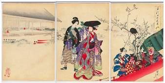 Yoshu Chikanobu (..Triptych (6..