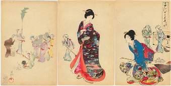 CHIKANOBU YOSHU (Triptych.. (7..