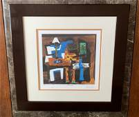 Pablo Picasso: Three Musicians/ Lithograph