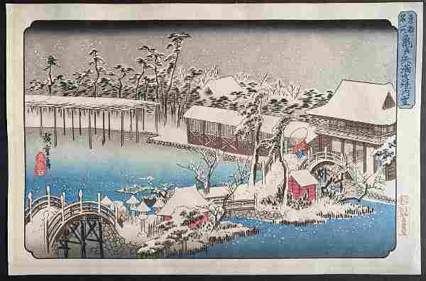 Ando Hiroshige: Snow at Kameido