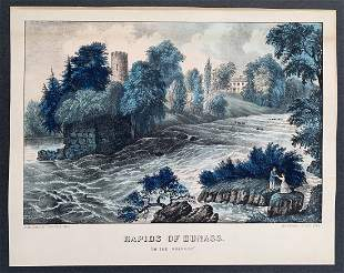 Currier & Ives: The Rapids of Dunass