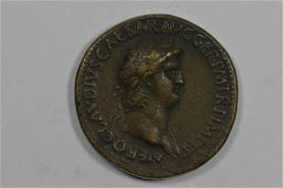 Nero as Augustus (54-68 AD) Bronze Sestertius