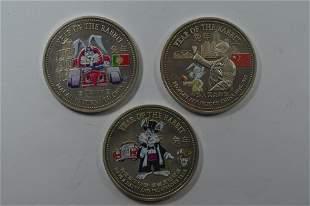 Three-Piece Set of China 1999 Year of the Rabbit