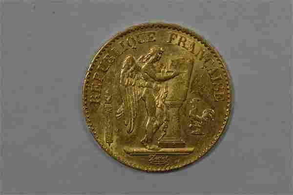 France 1877-A Gold 20 Francs